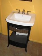 kohler vanity with wicker drawer - Kohler Vanity
